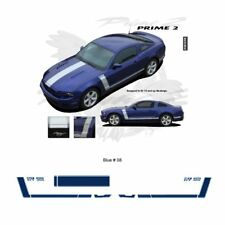 Ford Mustang 2013+ GT Style Hood and Side Stripes Graphic Kit - Blue
