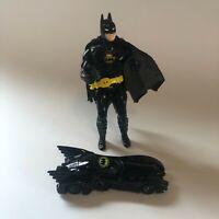 Vintage 1989 DC Comics Batman Action Figure and Batmobile by Ertl