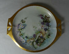 HUTSCHENREUTHER SELB BAVARIA HAND PAINTED CABINET PLATE BLACKBERRIES & FLOWERS