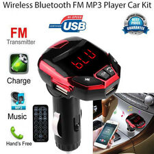Wireless Bluetooth FM Transmitter Modulator USB Car Kit MP3 Player SD Remote Red