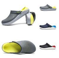 Summer Men's Rubber Sole Slingback Garden Outdoor Beach Clogs Ventilated Sandals