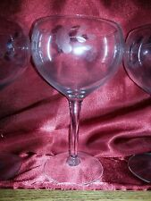 Princess House Heritage Etched Crystal - Balloon Wine Goblet Stem Ware (Vintage)