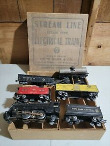 Vintage Louis Marx Stream Line Electric Train Set In Original Box #1