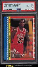 1987 Fleer Stickers Michael Jordan #2 PSA 8 NM-MT