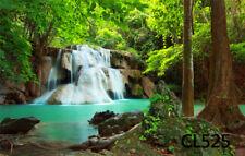 9X6FT Jungle Waterfalls Nature Photography Backdrop Studio Prop Vinyl Background