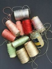 5 Spools Lot Sewing Thread Art Silk Poly for embroidery Assorted Colors gitti