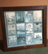 Vtg Home Interiors Homco Window Pane Picture B.Mitchell Rustic Barn Mailbox Uc