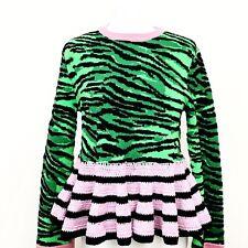 Kenzo For H&M HM Blue Green Zebra Wool Blend Knit Sweater Sz S