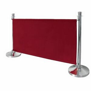 Bolero Canvas Barrier Red Made of Polyester 700(H) x 1430(W) x 20(D)mm
