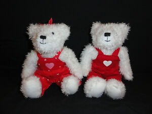 Hallmark Magnetic Kissing Bears - lot of 2 (9in Tall)