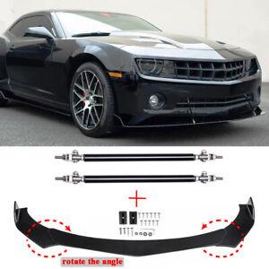 For Chevrolet Camaro SS 1LE ZL1 Front Bumper Lip Splitter Spoiler + Strut Rods
