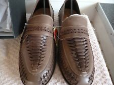 mans shoes trustyles light tan boxed with tags intrweav NEW