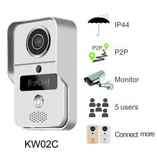 KONX KW02C Interphone 720p IP+Wifi+Relais porte+RFID+Full Duplex+Sonnette 433Mhz