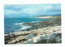 Harris : Borve Beach - West Coast , and view of the Harris Mountains