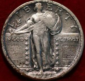 1917-D Type Il Denver Mint Silver Standing Liberty Quarter