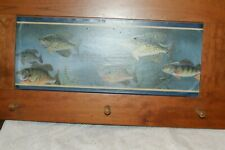 VINTAGE CABIN LAKE FISH 3 PEG WOODEN HAT, COAT, ANYTHING YOU WANT HANG RACK