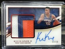 2019-20 immaculate basketball Kevin Knox II Premium Patch Auto Gold 7/10