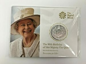 The Royal Mint 'The 90th Birthday of Her Majesty The Queen' 2016 UK £20 Silver