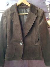 Ladies Womens Velvet Blazer Jacket Coat Brown Size 14