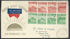 1953 Food Produce Strips Fremantle Wa Australia Guthrie Fdc Uprated to Us / Usa