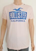 Hollister Mens Logo Graphic Crew Neck T-Shirt Tee Pink Large L RRP £15