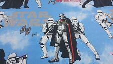 Disney Star Wars Storm Trooper Azul Azul Algodón Cortina Tela Artesanal Niños