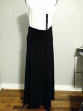 Old Navy Black Maxi Flowy Midi Maternity Skirt Size Small