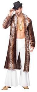 Pimp Mantel Kostüm Jacke Gangster Ganove Party Pop Star Leopard Mafia Prollo