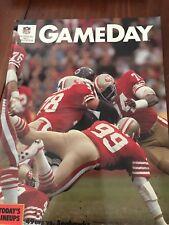 1985 San Francisco 49ers v Seattle Seahawks Program - Candlestick Park Fred Dean