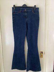 Ladies NEXT Dark Blue Ultimate  Flare Jeans Size 14 L