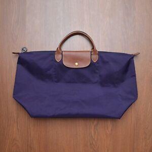 Longchamp Purple Tote Bag