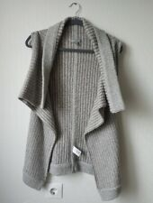 James Perse Heather Gray Taupe Multi-Color Knitted Open Sleeveless Cardigan 2