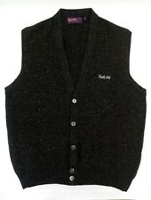 Footjoy Lochaver 💯 Scottish Wool golf Vest With Buttons made in Scotland size L
