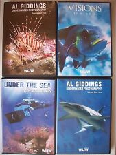 UNDER THE SEA PHOTOGRAPHY 4 DVD`S ----WITH AL GIDDINGS