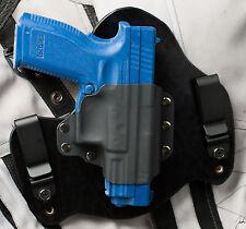 XD Springfield Armory Black Leather Kydex Hybrid Gun Holster IWB Tuck