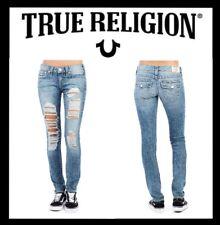 TRUE RELIGION SKINNY FIT W FLAP NATURAL SN JEAN WOMEN'S SIZE 28 (NEW) MSRP $229