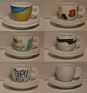 illy cappuccino cups 1993 - set of 6