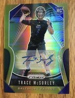 2019 Panini Gold Prizm Trace McSorley RC Rookie AUTO /10 Ravens Refractor Nice