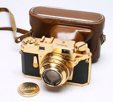 KONICA III 35MM FILM RANGEFINDER CAMERA - GOLD PLATED