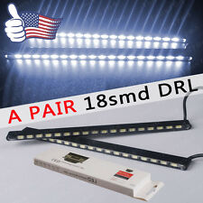 2 X Super Bright 6000K White Car DRL 5630 LED HIGH POWER DAYTIME RUNNING LIGHTS