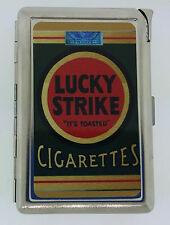 Lucky Strike Pack Ad Cigarette Case with lighter ID Holder Wallet LS01 Vintage