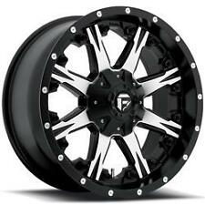 20x9 Fuel D541 Nutz Black Machined Wheels Rims Chevy Ford GMC Dodge Jeep
