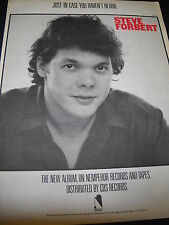 Steve Forbert Just In Case You Haven't Heard original 1982 Promo Display Ad