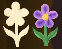 "Flower Shape 3"" Natural Craft Wood Cutout #458-3"