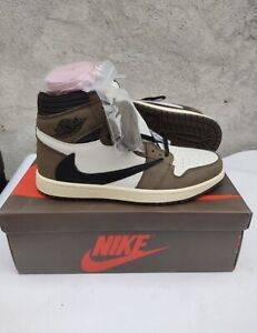 New-2019 - Air Jordan 1 High OG Travis Scott Sail Mocha - UK.9/US.10/EU.44