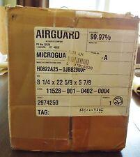 NEW AIRGUARD ULPA FILTER H0822A25-0JBB2900F, 8 1/4 X 22 5/8 X 5 7/8 OR 8 7/32 X