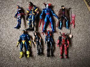 Toybiz Marvel Legends X-men & X-Force Action Figure Bundle Bishop Deadpool Gambi