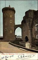 Palma de Mallorca ~1906 Castillo de Bellver Torre del Homenage Burg Espana Spain