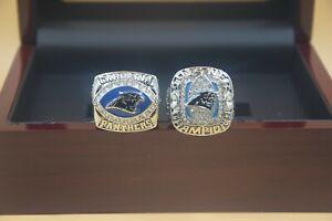 2pcs 2003 2015 Carolina Panthers World Championship Ring !