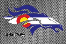 "2x Denver Broncos Colorado Flag 3.5"" Vinyl Die Cut Graphic Sticker"